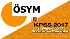 2017 KPSS soruları indir