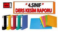 4 sınıf ders kesim raporu