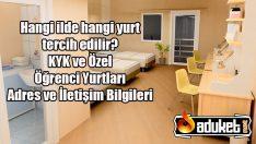 İstanbul KYK – Özel Öğrenci Yurtları Listesi