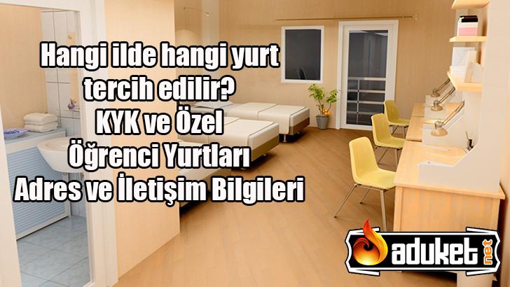 İzmir KYK – Özel Öğrenci Yurtları Listesi